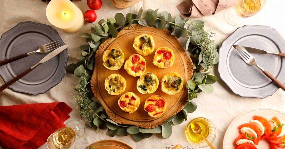 【動画レシピ】クリスマスカラーのキッシュでパーティ!