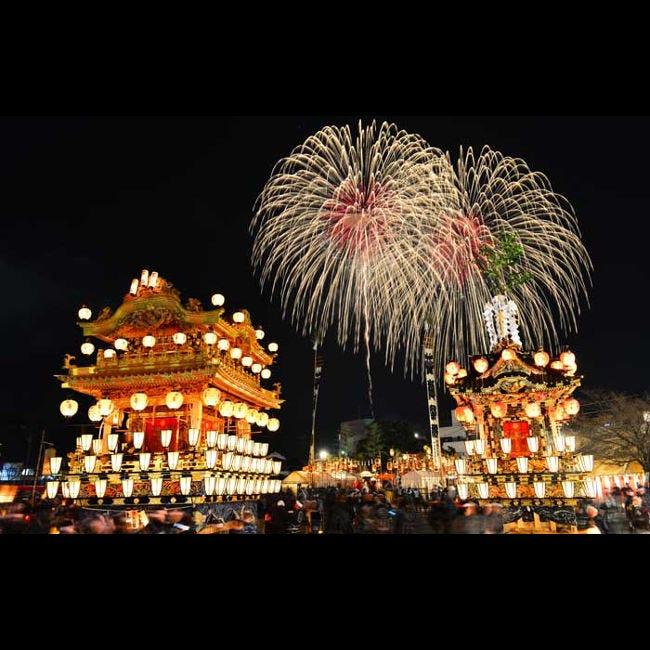 【12月2日(月)3日(火)花火】大迫力の山車&フィナーレを飾る花火で日本三大曳山祭の魅力を体感!秩父の師走名物「秩父夜祭」