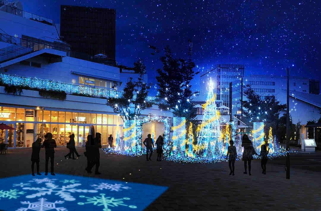 藤沢 テラスモール湘南のクリスマスイルミネーション2018 ozmall