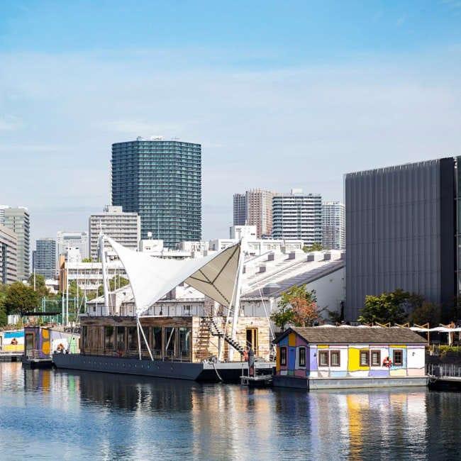 運河に浮かぶ色とりどりの小舟が客室!天王洲に水上ホテル「PETALS TOKYO」が誕生