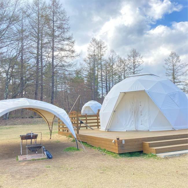 【山梨にある、おしゃれアウトドア施設6選】グランピング&手ぶらキャンプが楽しめる!実際に訪れた人の口コミも