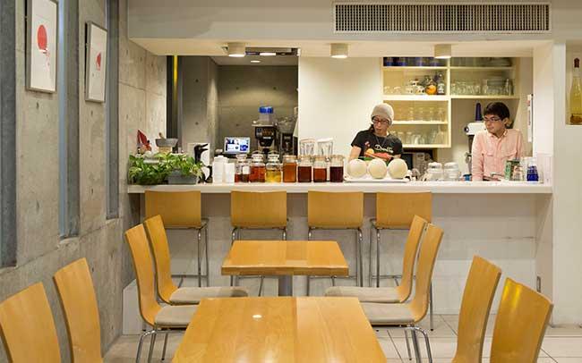 オープンキッチンが望める開放的な空間