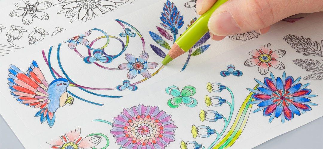 大人のぬり絵にぴったりの色鉛筆が三菱鉛筆株式会社から母の日ギフト