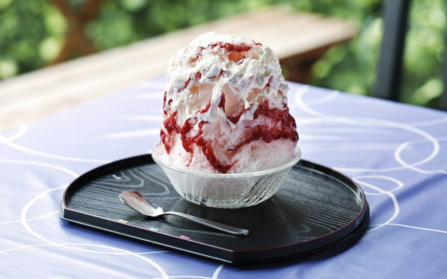イチゴのショートケーキを思わせる、絶品かき氷