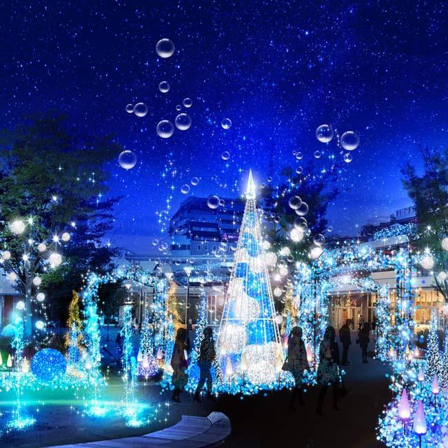 テラスモール湘南で「Terrace Mall 湘南 Xmas Illumination 2019 ~Shonan Mysteric-Sea~」開催【イルミネーション2019】