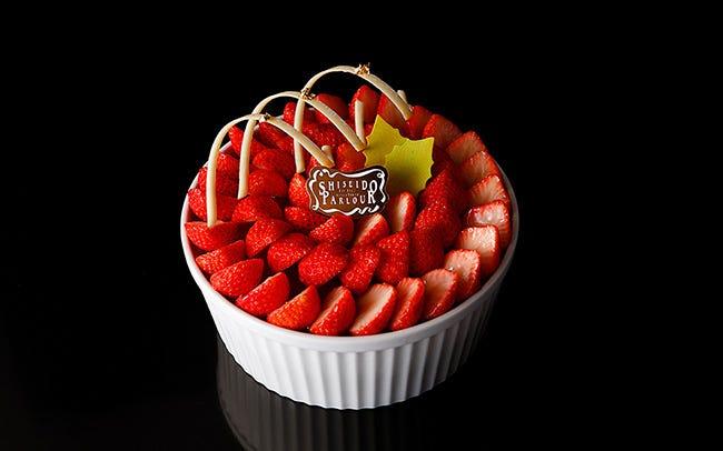 資生堂パーラーのイチゴのココットケーキ