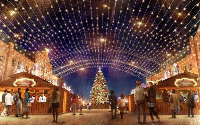 横浜赤レンガ倉庫のクリスマスマーケット