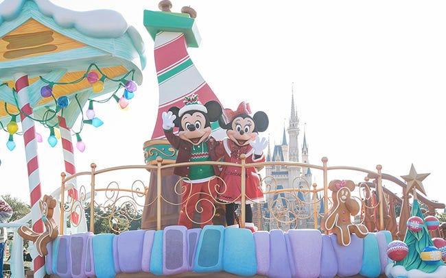 東京ディズニーランドのクリスマス