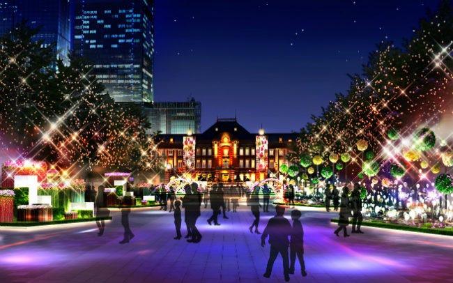 東京ミチテラスの光のフラワーガーデン