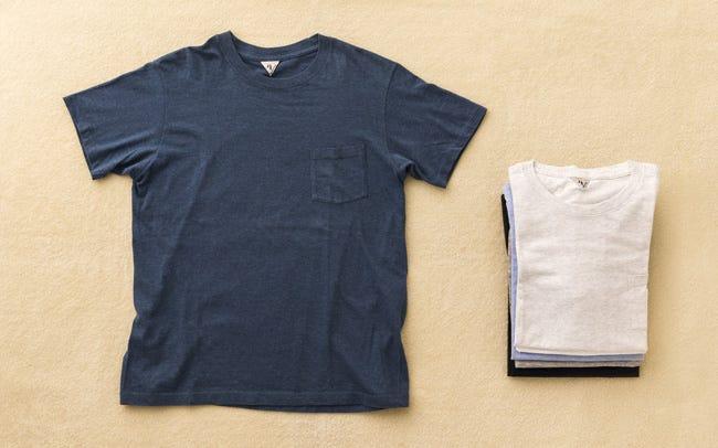 丁寧に作られたFilMelangeのTシャツを彼に