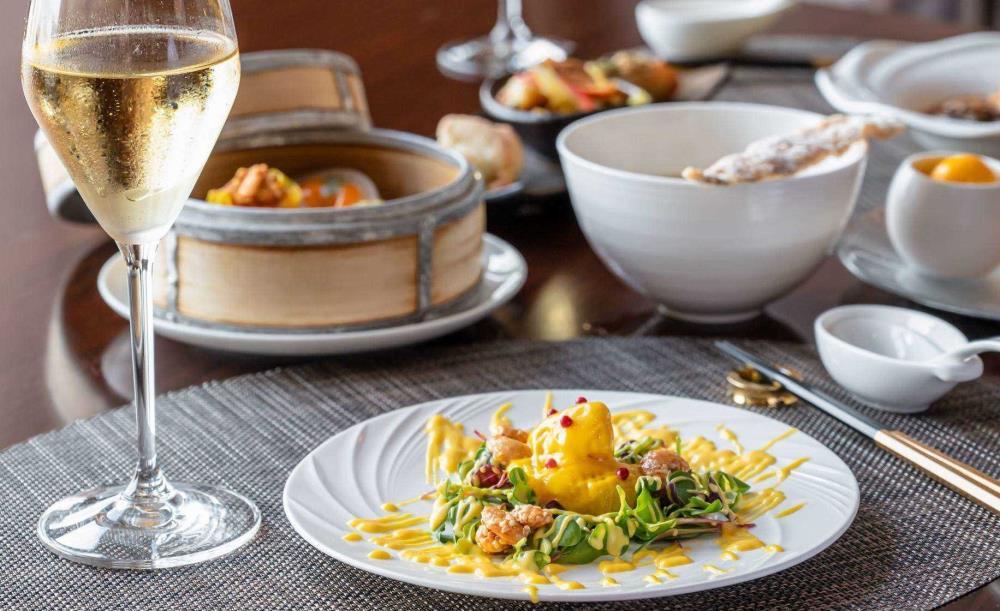 CHINA SHADOW【〜10/31・OZ限定★誕生日】フリーフロー&メッセージ入りデザートで祝福!和と中国料理のフュージョンコース全7皿「和音」