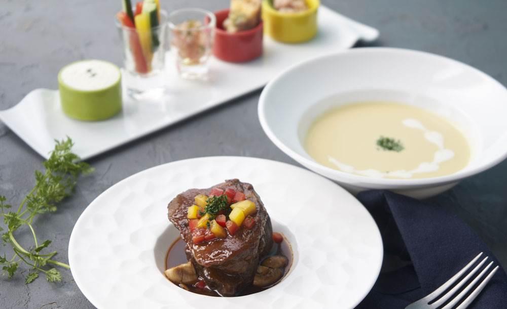 STITCH【記念日★乾杯シャンパン付き】ホールケーキ付き!鮮魚と近江牛のWメイン、スープ、前菜など上質なメニューでお祝い