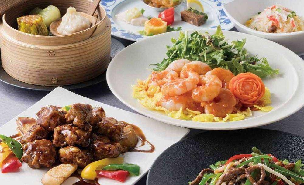 中国料理「春蘭門」【金蓮花】ふかひれスープ、和牛、炒飯、デザート2種など全7皿