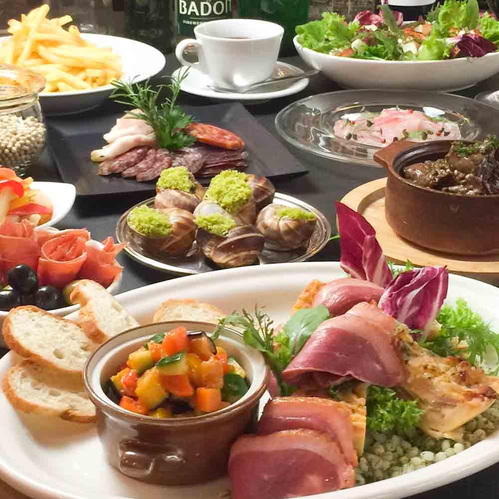 【スタンダードコース★乾杯シャンパン付き】国産牛ホホ肉などから選べる肉料理&魚のWメイン・デザートなど6皿