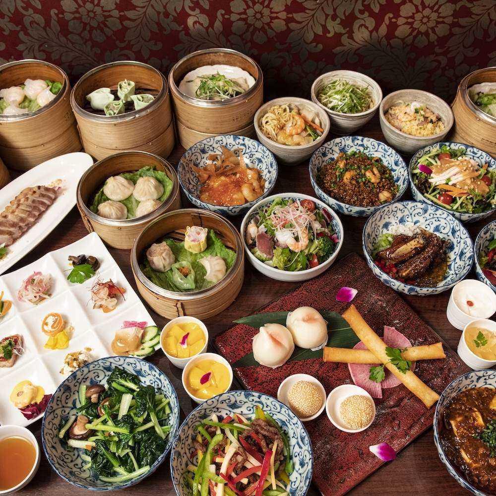 【NEW★全38種の飲茶食べ放題】中国茶全21種を含むソフトドリンク1杯付き×一口フカヒレや北京ダックも1皿ずつ頼めるプラン