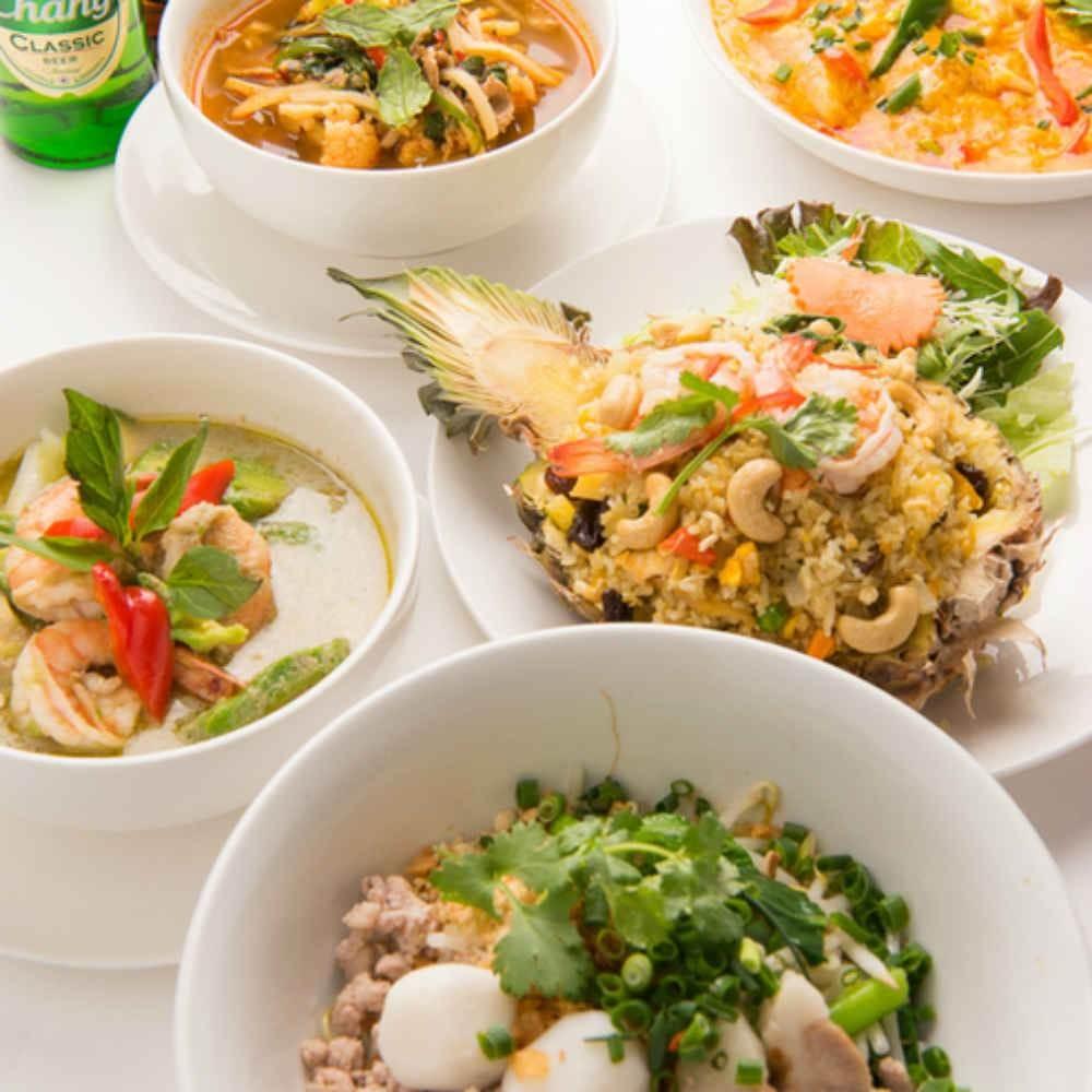 【2時間飲み放題★パクチー好きにオススメ】渋谷の本格タイ料理バルで、人気沸騰のパクチーを心ゆくまで堪能できる全7皿